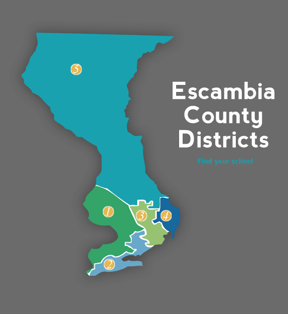 Map Of Florida School Districts.Escambia County School Board Home